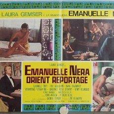 Cine: VF48D EMANUELLE NEGRA SE VA A ORIENTE LAURA GEMSER JOE D'AMATO POSTER ORIGINAL ITALIANO 47X68. Lote 15751383