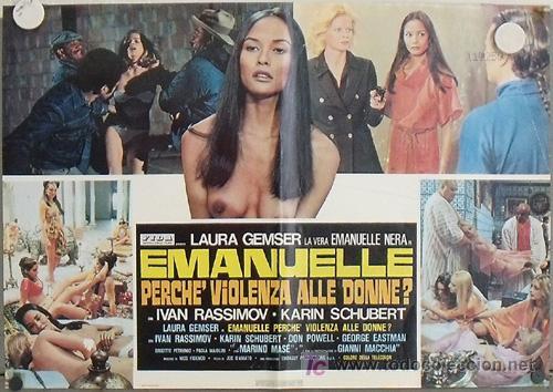 YG86D EMANUELLE ALREDEDOR DEL MUNDO LAURA GEMSER JOE D'AMATO DESNUDA POSTER ORIGINAL ITALIANO 47X68 (Cine- Posters y Carteles - Drama)
