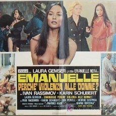 Cine: YG86D EMANUELLE ALREDEDOR DEL MUNDO LAURA GEMSER JOE D'AMATO DESNUDA POSTER ORIGINAL ITALIANO 47X68. Lote 15752900