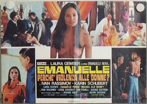 XV89D EMANUELLE ALREDEDOR DEL MUNDO LAURA GEMSER JOE D'AMATO DESNUDA POSTER ORIGINAL ITALIANO 47X68 (Cine- Posters y Carteles - Drama)