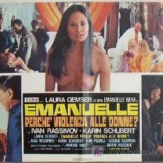 Cine: XV89D EMANUELLE ALREDEDOR DEL MUNDO LAURA GEMSER JOE D'AMATO DESNUDA POSTER ORIGINAL ITALIANO 47X68. Lote 15752908