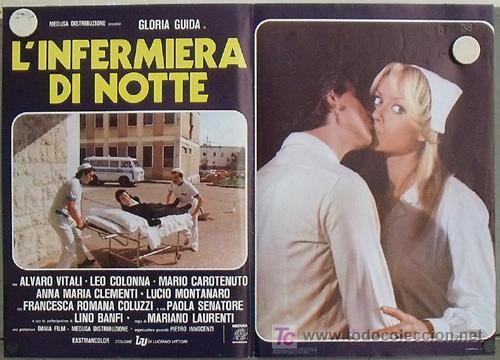 VG48D ENFERMERA PARA TODO GLORIA GUIDA SEXY POSTER ORIGINAL ITALIANO 47X68 (Cine - Posters y Carteles - Comedia)