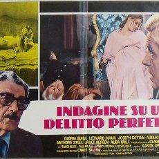 Cine: KE84 GLORIA GUIDA INDAGINE SU UN DELITTO PERFETTO POSTER ORIGINAL ITALIANO 47X68. Lote 15850328