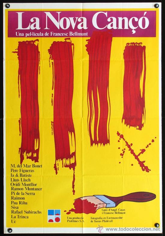 LA NOVA CANÇÓ - 1976 - FRANCESC BELLMUNT - Mª DEL MAR BONET - LLUIS LLACH - POSTER ORIGINAL ESTRENO (Cine - Posters y Carteles - Documentales)