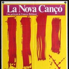 Cine: LA NOVA CANÇÓ - 1976 - FRANCESC BELLMUNT - Mª DEL MAR BONET - LLUIS LLACH - POSTER ORIGINAL ESTRENO. Lote 15829519