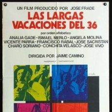 Cine: LAS LARGAS VACACIONES DEL 36 - 1976 - JAIME CAMINO - ANALIA GADE - ANGELA MOLINA - FRANCISCO RABAL. Lote 15832668