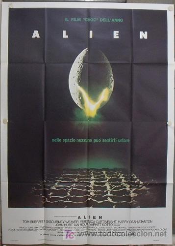 QA95 ALIEN EL OCTAVO PASAJERO RIDLEY SCOTT SIGOURNEY WEAVER POSTER ORIGINAL ITALIANO 140X200 (Cine - Posters y Carteles - Ciencia Ficción)