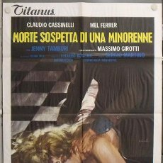 Cine: QB55 SUSPECT DEATH OF A MINOR SERGIO MARTINO GIALLO POSTER ORIGINAL ITALIANO 100X140. Lote 253701875