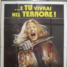 Cine: KF38 EL MAS ALLA L'ALDILA LUCIO FULCI POSTER ORIGINAL ITALIANO 140X200. Lote 20083346