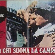 Cine: YF02D POR QUIEN DOBLAN LAS CAMPANAS GARY COOPER GUERRA CIVIL SET DE 8 POSTERS ORIG ITALIANO 47X68. Lote 15974735