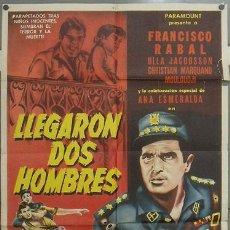 Cine: KH12 LLEGARON DOS HOMBRES FRANCISCO RABAL ANA ESMERALDA E. F. ARDAVIN POSTER ORIGINAL MEJICANO 70X94. Lote 15976953