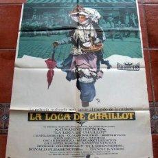 Cine: CARTEL POSTER LA LOCA DE CHAILLOT, KATHERINE HEPBURN, CHARLES BOYER. ORIGINAL 70 X 100 AÑO 1969. Lote 18804159