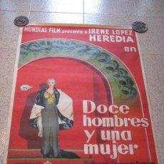 Cine: DOCE HOMBRES Y UNA MUJER-LITOGRAFIA 1934. Lote 17564396
