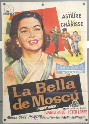 KH41 LA BELLA DE MOSCU FRED ASTAIRE CYD CHARISSE POSTER ORIGINAL 70X100 ESTRENO (Cine - Posters y Carteles - Musicales)