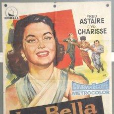 Cine: KH41 LA BELLA DE MOSCU FRED ASTAIRE CYD CHARISSE POSTER ORIGINAL 70X100 ESTRENO. Lote 16049445