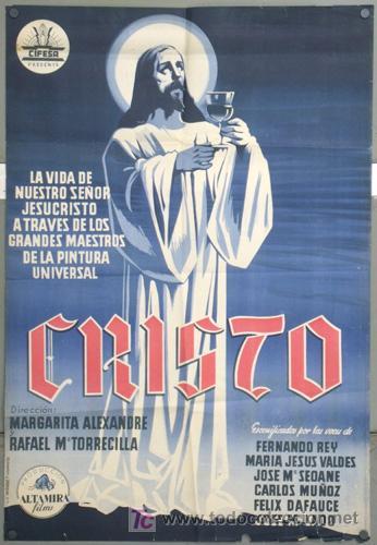 KH47 CRISTO CIFESA DOCUMENTAL CINE RELIGIOSO POSTER ORIGINAL 70X100 ESTRENO LITOGRAFIA (Cine - Posters y Carteles - Clasico Español)