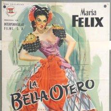Cine: KH46 LA BELLA OTERO MARIA FELIX JANO POSTER ORIGINAL 70X100 ESTRENO LITOGRAFIA. Lote 18274079