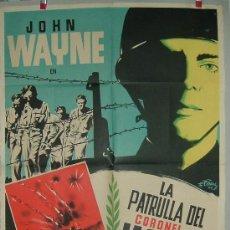 Cine: LA PATRULLA DEL CORONEL JACKSON --- JHON WAYNE. Lote 16066278