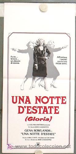 KH99 GLORIA JOHN CASSAVETES GENA ROWLANDS POSTER ORIGINAL ITALIANO 33X70 (Cine - Posters y Carteles - Acción)