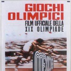 Cine: AAV45D JUEGOS OLIMPICOS DE MEXICO POSTER DE CINE ORIGINAL 100X140 ITALIANO. Lote 16113091