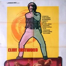 Cine: VX91D HARRY EL FUERTE DIRTY HARRY 2ND FILM CLINT EASTWOOD POSTER ORIGINAL ITALIANO 100X140. Lote 21614387