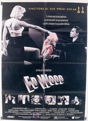 KL01 ED WOOD TIM BURTON JOHNNY DEPP MARTIN LANDAU POSTER ORIGINAL ITALIANO 100X140 (Cine - Posters y Carteles - Terror)