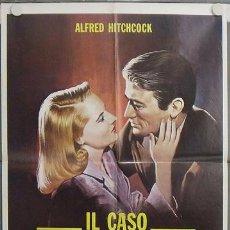 Cine: KL15 EL PROCESO PARADINE ALFRED HITCHCOCK GREGORY PECK ALIDA VALLI POSTER ORIGINAL ITALIANO 68X94. Lote 16216387