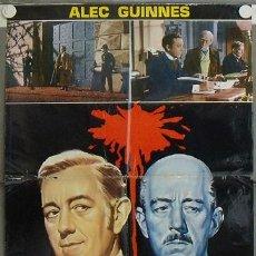Cine: KL22 OCHO SENTENCIAS DE MUERTE ALEC GUINNESS EALING POSTER ORIGINAL ITALIANO 68X94. Lote 16216756
