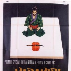 Cine: ZK99D HARAKIRI SEPPUKU MASAKI KOBAYASHI POSTER ORIGINAL ITALIANO 140X200. Lote 189742400