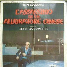 Cinema: KM14 THE KILLING OF A CHINESE BOOKIE JOHN CASSAVETES BEN GAZZARA POSTER ORIGINAL ITALIANO 100X140. Lote 16280331