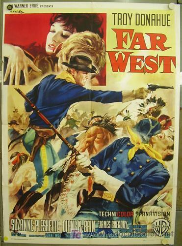 KM53 UNA TROMPETA LEJANA RAOUL WALSH TROY DONAHUE POSTER ORIGINAL ITALIANO 100X140 (Cine - Posters y Carteles - Westerns)