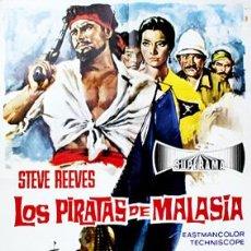 Cine: LOS PIRATAS DE MALASIA. CARTEL (100X70 CM.). Lote 16370494