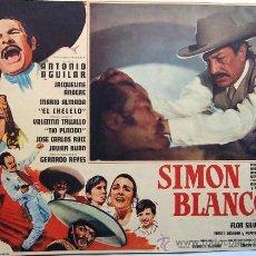 Cine: SIMON BLANCO - ANTONIO AGUILAR - JACQUELINE ANDERE - MARIO ALMADA - ORIGINAL MEXICAN LOBBY CARD. Lote 16312655