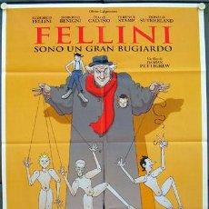 Cine: KM61 FELLINI SOY UN GRAN MENTIROSO FEDERICO FELLINI POSTER ORIGINAL ITALIANO 100X140. Lote 16313745