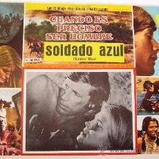 Cine: SOLDADO AZUL - WESTERN - PETER STRAUSS - CANDICE BERGEN - ORIGINAL MEXICAN LOBBY CARD. Lote 16314770