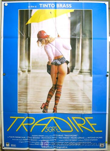 QQ40 TRASGREDIRE TINTO BRASS SEXY LESBIAN POSTER ORIGINAL ITALIANO 140X200 (Cine - Posters y Carteles - Terror)