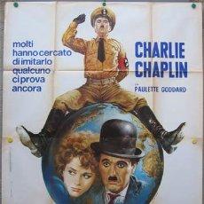 Cine: KO06 EL GRAN DICTADOR CHARLES CHAPLIN POSTER ORIGINAL ITALIANO 140X200. Lote 19625834