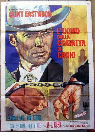 XG74D LA JUNGLA HUMANA CLINT EASTWOOD POSTER ORIGINAL ITALIANO 140X200 (Cine - Posters y Carteles - Acción)