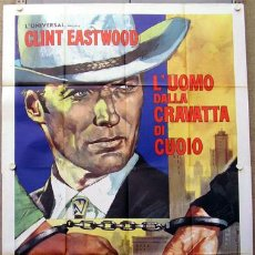 Cine: XG74D LA JUNGLA HUMANA CLINT EASTWOOD POSTER ORIGINAL ITALIANO 140X200. Lote 16344033