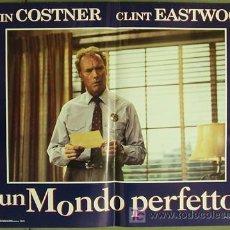 Cine: QB16 UN MUNDO PERFECTO CLINT EASTWOOD KEVIN COSTNER SET 4 POSTERS ORIGINAL ITALIANO 47X68. Lote 16346229