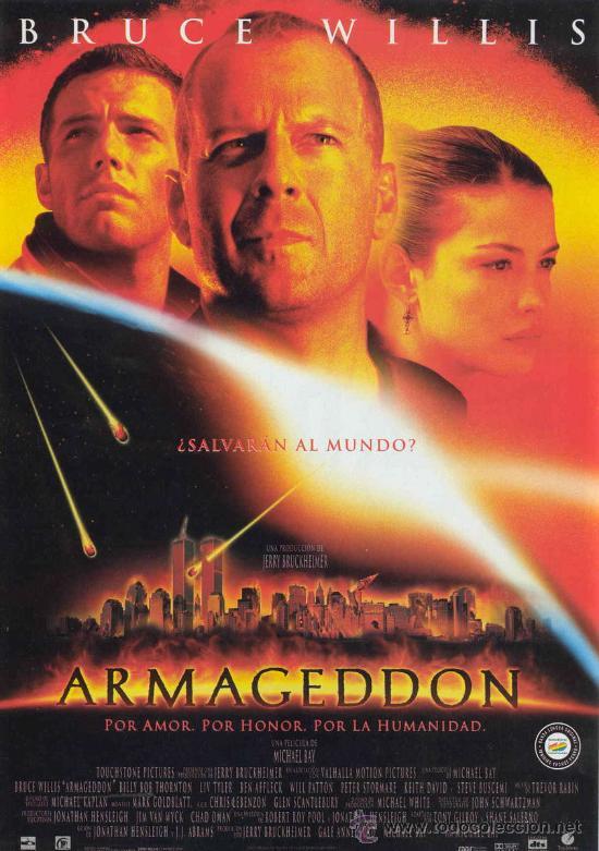 'ARMAGEDDON', CON BRUCE WILLIS. (Cine - Posters y Carteles - Ciencia Ficción)