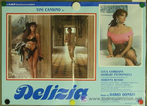 KO94 DELIZIA JOE D'AMATO SEXY DESNUDA SET DE 6 POSTERS ORIGINAL ITALIANO 47X68 (Cine - Posters y Carteles - Terror)
