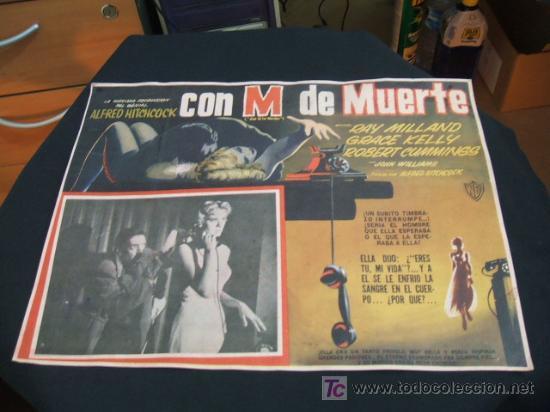 CARTEL DE CINE - CON M DE MUERTE - ALFRED HITCHCOCK - (Cine - Posters y Carteles - Suspense)