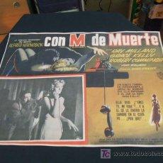 Cine: CARTEL DE CINE - CON M DE MUERTE - ALFRED HITCHCOCK - . Lote 22695802