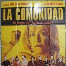Cine: KQ23 LA COMUNIDAD ALEX DE LA IGLESIA CARMEN MAURA EMILIO GUTIERREZ CABA POSTER ORIG 140X200 ITALIANO. Lote 16435262