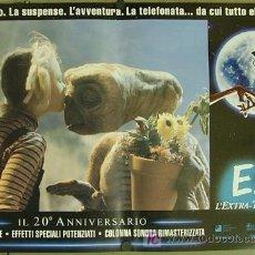 Cine: QQ88 E.T. EL EXTRATERRESTRE STEVEN SPIELBERG ESPECTACULAR SET DE 8 POSTERS ORIGINAL ITALIANO 47X68. Lote 20049827