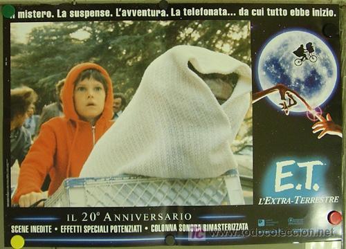 Cine: QQ88 E.T. EL EXTRATERRESTRE STEVEN SPIELBERG ESPECTACULAR SET de 8 POSTERS ORIGINAL ITALIANO 47X68 - Foto 8 - 20049827