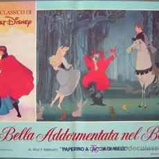 Cine: QA84 LA BELLA DURMIENTE WALT DISNEY SET DE 6 POSTERS ORIGINAL ITALIANO 47X68. Lote 35629954
