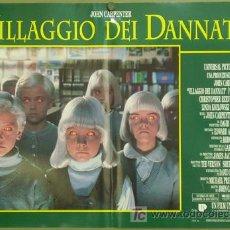 Cine: VX42D EL PUEBLO DE LOS MALDITOS JOHN CARPENTER CHRISTOPHER REEVE SET 6 POSTER ORIG ITALIANO 47X68. Lote 16452613