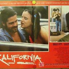 Cine: KR27 KALIFORNIA BRAD PITT JULIETTE LEWIS DAVID DUCHOVNY SET DE 6 POSTERS ORIGINAL ITALIANO 47X68. Lote 16453319